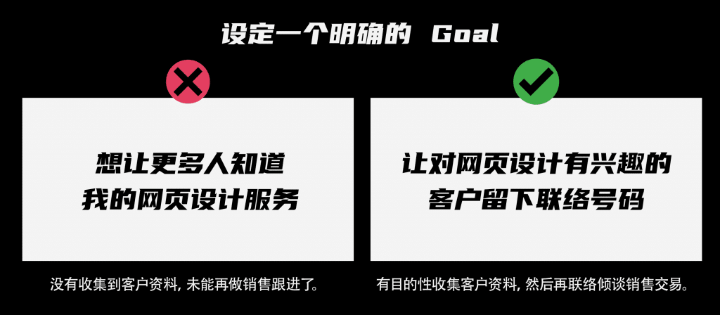 设定一个明确的 Goal