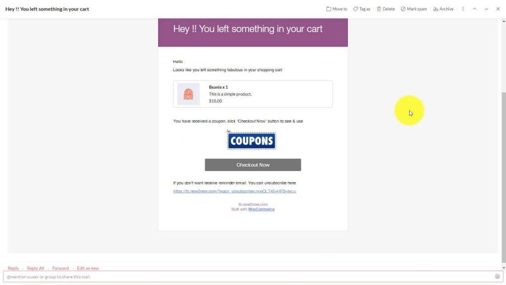 废弃购物车电子邮件